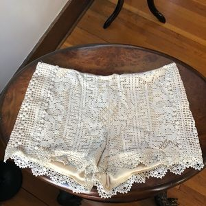 Anna Sui RUNWAY Antique Lace Shorts in Dar…